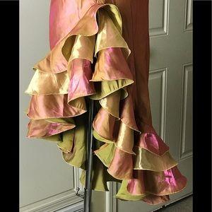 Poly U.S.A_Iridescent Ruffle Gown_Medium